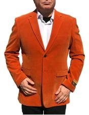 Nardoni Brand Orange Velvet ~ velour Mens blazer Jacket~ Sport Coat Jacket Available Big Sizes