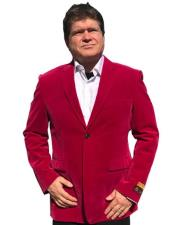 Hot Pink ~ Fuchsia Tuxedo velour Mens blazer Jacket