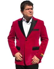 Hot Pink ~ Fuchsia velour Mens blazer Jacket ~ Sport coat