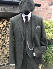 Green Two Button Peaky Blinders Custom Suits