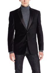 Priced Black Big And Tall Mens blazer Clearance Velvet ~ velour Mens blazer Jacket / Sport Coat