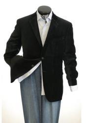 And Tall Mens Black Mens blazer Clearance Cheap Priced Velvet ~ velour Mens blazer Jacket / Sport