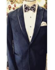 Fancy Tuxedo velour Mens blazer Jacket ~ Velvet Trim Wedding ~