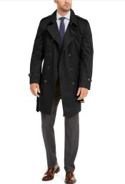 Ralph Lauren Mens Classic-Fit Lowry Double-Breasted Raincoat