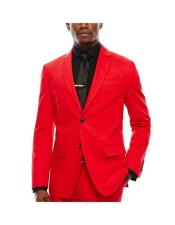WTXVelvet2BV Alberto Nardoni Mens Red Velvet Suit velour Mens blazer Jacket &