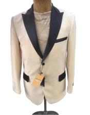Fashion Dress Casual Mens blazer On Sale Ivory ~ Cream ~ Off White Tuxedo Velvet velour Blazer