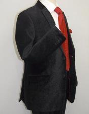 Paisley Black Velvet Fabric Patterned Texture Mens blazer Sport Coat velour Blazer Jacket