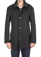 Breasted Coat Black