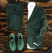 Tuxedo Dinner Jacket velour Mens blazer Jacket + Scarab Green