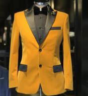 Velvet Tuxedo velour Mens blazer Jacket + Gold