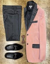 Pink Velvet Suit or Tuxedo Jacket for Prom