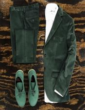 Green Velvet Suit or Tuxedo Jacket for Prom