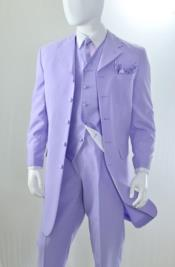 ~ Lilac Vested 3 Piece Fashion Zoot Suit for Men