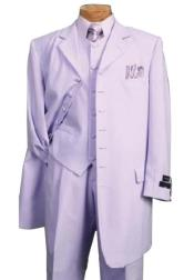 Lavender Single Breasted One Chest Pocket Fashion Zoot Suit