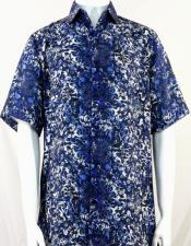 Bassiri Royal Pattern Short Sleeve Camp Shirt 3998