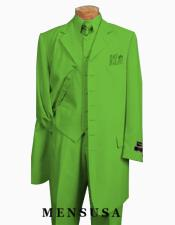 Mens Apple Green Six Button Zoot Suit