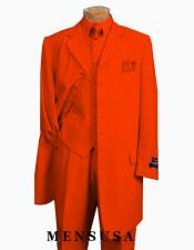 Edition Mens Orange Zoot Suit Pre order 1920s Long Fashion suit