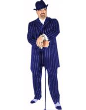 Suit Royal Blue/White Pinstripe Coming Sep/15/2020 Zoot Suit Pre Order Limited