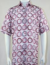 Tones Button Front 100% Microfiber Bassiri Short Shirt for Men