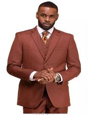 Clay Single Breasted 2 Button Notch Lapel Suit