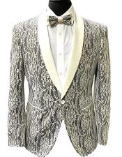 Fashion Fancy Floral Fashion Mens Blazer / Sport coat Slim Fit