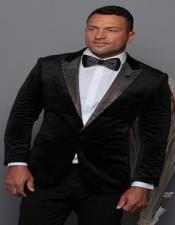 and Silver Lapel Velvet Mens blazer Perfect For Prom & Wedding