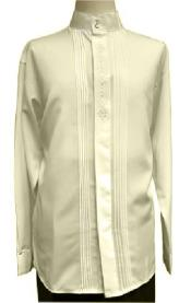 Embroider Off-White Long Sleeve Shirt for Men