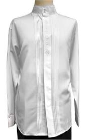 White Pleated Front Shirt Ideal for Weddings for Men