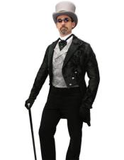 Velvet Suit Jacket and Pants  Tailcoat - Paisley Black Tail Tuxedo