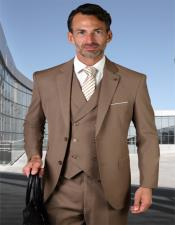 Two Button Wool Fabric Ticket Pocket Suit
