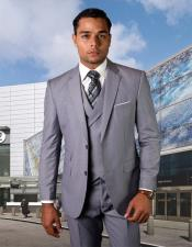 Wool Fabric Vested Suit