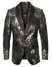 Silver & Black Blazer Perfect Gray