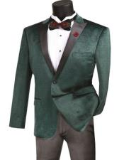 Emerald One Button Single Breasted Dinner Tuxedo
