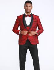 and Black Prom Suits Jacket + Pants