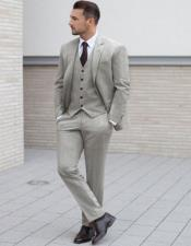 Tweed 3 Piece Suit - Tweed Wedding Suit Mens Tweed Suit Light