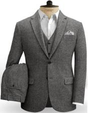 Tweed 3 Piece Suit - Tweed Wedding Suit Mens Tweed Suit Gray