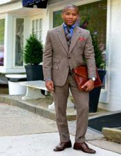 Tweed 3 Piece Suit - Tweed Wedding Suit Mens Tweed Suit Brown