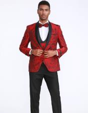 Red and Black Prom ~ Wedding Tuxedo Dinner Jacket Blazer Sport Coat