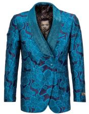 ~ Wedding Teal Blue ~ Turquoise Color Tuxedo Jacket Blazer Sportcoat