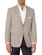 Mini Checker Blazer Sport Coat Wool Blazer