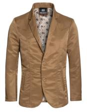 Slim Fit Western Blazer Sport Coat Camel