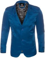 Slim Fit Western Blazer Sport Coat Royal