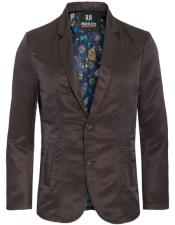 Slim Fit Western Blazer Sport Coat Coffee