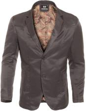 Slim Fit Western Blazer Sport Coat Charcoal