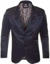 Slim Fit Western Blazer Sport Coat Navy