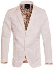 Slim Fit Western Blazer Sport Coat White