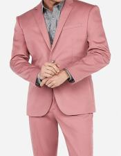 Rose Gold ~ Pink 2 Button Suit