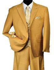 Vintage Peak Lapel Gold Suit