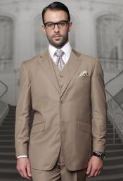 Mens  Brown Suit Plus Size Mens Suits For Big Guys