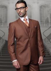 Breasted Notch Lapel Copper